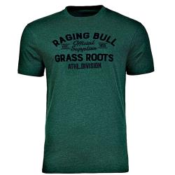 RAGING BULL TEE - Printed Cotton Tee GRASS ROOTS GREEN 3 - 6XL