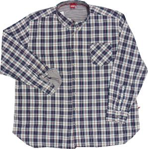 D555 Long Sleeve Button down Check Shirt with pocket TYLER 5XL