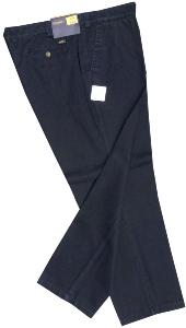 SALE - OAKMAN  Washed Casual Cotton Chino NAVY 44""
