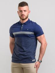 EX-DISPLAY - D555  SHORT SLEEVE BLOCK STRIPE  POLO WITH POCKET  LAWSON NAVY 5XL