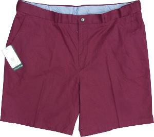 SKOPES Peached Cotton Shorts with Stretch Waist BUDE RED 50
