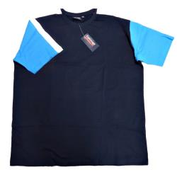 SALE - ESPIONAGE CUT AND SEWN TEE SHIRT NAVY 2 - 8XL