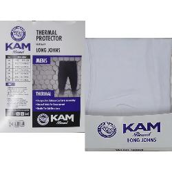 KAM King Size Thermal Long Johns WHITE 2 - 8XL