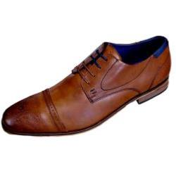 POD - PAUL O'DONNELL Finest Leather Brogue lace up  VERMONT  COGNAC