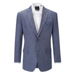 SKOPES Soft Touch Herringbone Jacket - PORTO BLUE