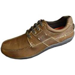 POD Casual Leather Lace Up TRAIL NUTMEG