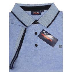 ESPIONAGE TWO TONE COTTON POLO BLUE 3 - 8XL
