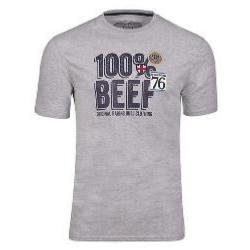 RAGING BULL 100% BEEF TEE SHIRT MARL GREY 4XL