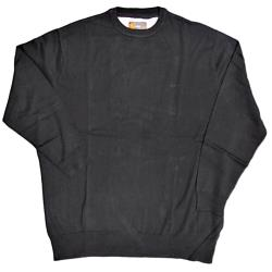 KAM JEANS Natural Cotton Crew Neck Sweater BLACK