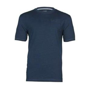RAGING BULL  Washed Cotton Tee Shirt with check pocket INDIGO