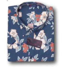 ESPIONAGE  Floral Print Hawaiian Shirt