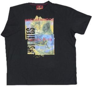 METAPHOR Ski Cotton Print Tee GRIZZLY PEAK BLACK 3XL