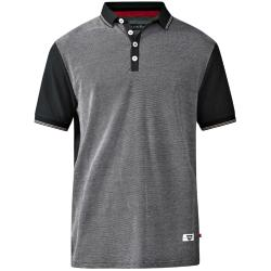 D555  SHORT SLEEVE  POLO WITH  JERSEY BACK AND SLEEVES CECIL BLACK 3 - 6XL