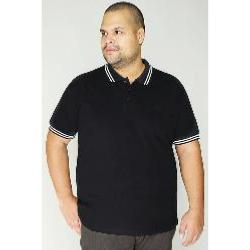 BAD RHINO Signature Polo shirt with White trim BLACK