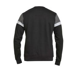 D555 BIG MENS  CUT AND SEWN  CREW NECK SWEATSHIRT CLERMONT BLACK  3 - 6XL