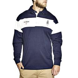 NORTH 56'4 Long Sleeve Striped Rugby Top NAVY/WHITE