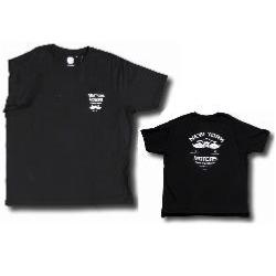 KAM NEW YORK MOTORS Printed Tee with Chest Pocket BLACK