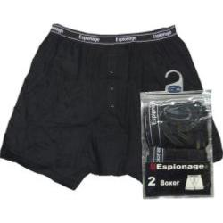 ESPIONAGE BOXER TRUNK - Twin Pack of Two BLACK  3XL