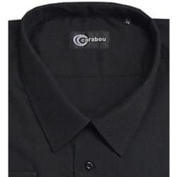 CARABOU Easy Care Long Sleeve Plain Shirt BLACK