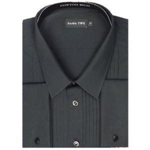 Double Two Dress Shirt STANDARD COLLAR BLACK