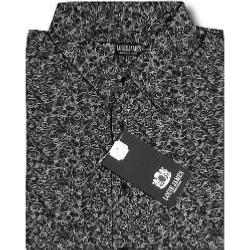 LOUIE JAMES Cool Cotton Summer Printed Shirt BLACK