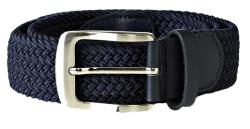 D555 Stretch Braided Belt NAVY DANI 2 - 6XL