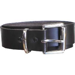 Soft Real Leather Belt  with Square Silver Colour buckle and loop BROWN