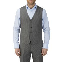 "SKOPES HAIRLINE STRIPE WAISTCOAT GREY PEDLEY 50 - 72"" CHEST"