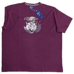 NEW - METAPHOR TIGER PRINTED T-SHIRT WINE 3 - 8XL