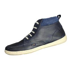 POD Casual Leather Lace Up Ankle Boot SAWYER NAVY