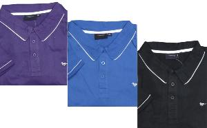ESPIONAGE Pure Cotton Jersey polo with white trim PURPLE 3XL