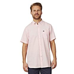 NEW - RAGING BULL SHORT SLEEVE LINEN  SHIRT  PINK  3 - 6XL