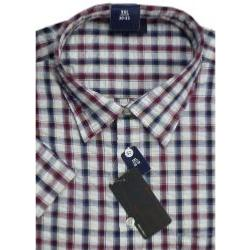 ESPIONAGE  SearSucker Check Shirt NAVY/RED/WHITE 2 - 8XL