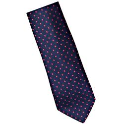 DOUBLE TWO Extra Long Tie RED / NAVY SPOT