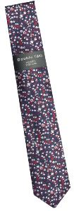 DOUBLE TWO Extra Long Patterned Tie NAVY/RED/WHITE Floral