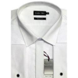 DOUBLE TWO Dress Shirt WHITE STANDARD COLLAR