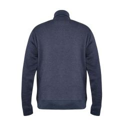 D555 FUNNEL NECK FULL ZIP SWEATSHIRT DENIM MARL LAMSON  3 - 8XL