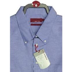 BAR HARBOUR Oxford Woven Shirts LONG SLEEVE Royal