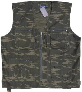 ESPIONAGE Active Multi pocket  Gillet CAMOUFLAGE 3XL