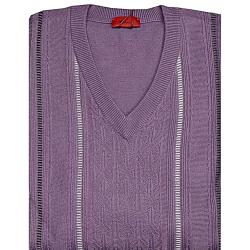 GABICCI Classically Styled Designer  Vee neck Sweater MAUVE 3 - 5XL