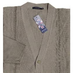 INVICTA Jacquard Button Cardigan FAWN 2 - 5XL