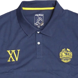 RAGING BULL  Rugged Combed Jersey Polo Rugby Shirt  XV NAVY 3 - 6XL