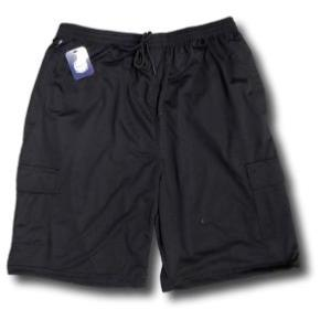 KAM Soft Jersey Cargo Lounge Shorts BLACK
