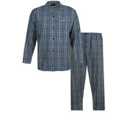 ESPIONAGE TRADITIONAL PYJAMA CHECK NAVY / TURQUOISE 2 - 8XL