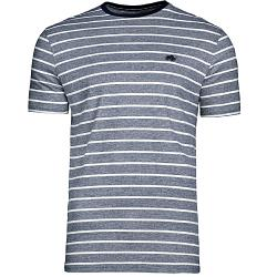 RAGING BULL TEE - Woven Feeder Stripe Tee Shirt NAVY - 6XL