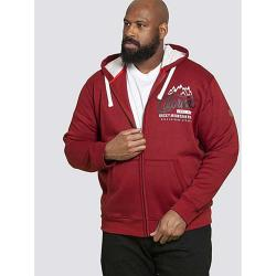 D555 KINGSIZE FULL ZIP HOODIE WITH PRINT  DURHAM RED 3 - 6XL