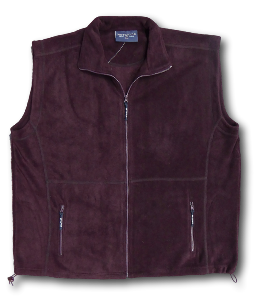 METAPHOR Polar Zip Fleece Body Warmer AUBERGINE