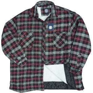 KAM Flannel Winter shirt with sheepskin style lining 2XL