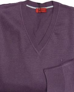 GABICCI Plain Wool Blend sweater GRAPE 3XL