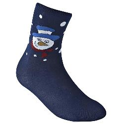 D555  Christmas Cotton rich Kingsize Socks SNOWMAN